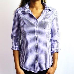 Purple & White Checkered Shirt